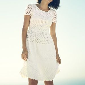 Boden Dresses - Boden eyelet white dress